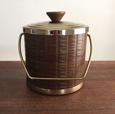 Vintage Ice Bucket, 1960s Ice Bucket, Vintage Barware by VicFoundThis on Etsy https://www.etsy.com/listing/492623545/vintage-ice-bucket-1960s-ice-bucket