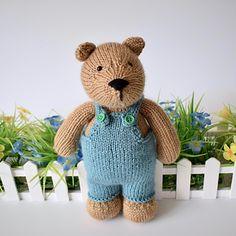 TEDDY BEAR TOY KNITTING PATTERNS
