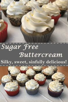 Sugar Free Vanilla Icing Pin This frosting is absolutely amazing. Silky smooth, sweet, and delicious. You wouldn't know it is sugar free! Sugar Free Cupcakes, Sugar Free Frosting, Sugar Free Deserts, Sugar Free Treats, Sugar Free Recipes, Sugar Free Vanilla Cake, Easter Cupcakes, Frosting Without Powdered Sugar, Sugar Free Cookies