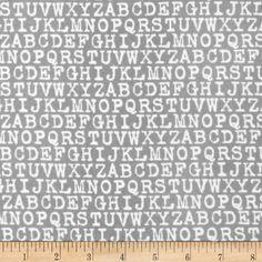 Cozy Cotton Flannel Alphabet Grey