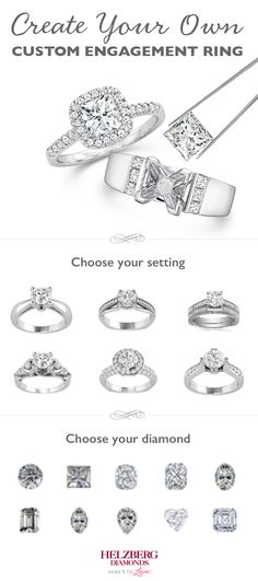The perfect engagement ring may be the one you create yourself. At Helzberg, you can start with your favorite diamond shape or with a unique setting to build the ring of your dreams.