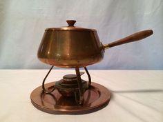 Vintage Copper Fondue Pot great idea for the next get together.