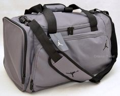 6618970035ab Nike Air Jordan Duffel Gym Bag Basketball Gray Black Jumpman Duffle Men  Women  Nike