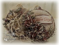 Tattered Treasures: Vintage Inspired Ornaments using Tim Holtz, Ranger, Sizzix and Maja Design products; Nov 2014