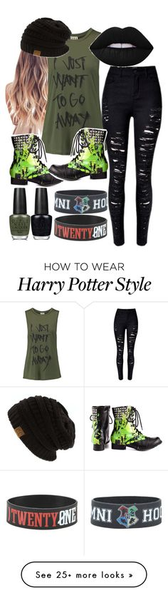 """""""***"""" by itgetsworse on Polyvore featuring Haute Hippie, Abbey Dawn and OPI"""