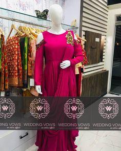 Designer drape dress with satin silk embroidred with zardozi and sequin work. Draped Dress, Silk Satin, Sequins, Dresses With Sleeves, Long Sleeve, Party, Design, Fashion, Moda