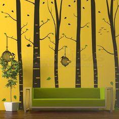 Birch Tree Wall Decal for big walls - Vinyl Wall Decal Sticker Art