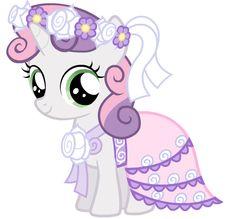 Sweetie Bell's flower girl dress