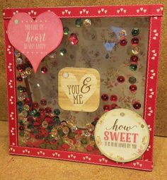 First Edition Love Story Sequin Shaker Card made by Louise