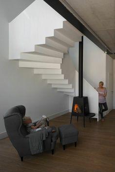 The Shaker in a design by Ola Wolczyk Architekt. Krakow, Poland. Kominek Shaker firmy Skantherm został zaprojektowany przez Antonio Citterio & Toan Nguyen.