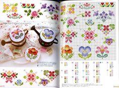 flori mici de cusut repede - schita de cusut