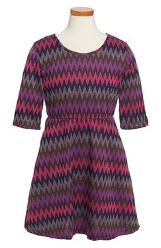 Mia Chica Chevron Knit Skater Dress (Big Girls) available at #Nordstrom   $38