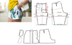Short de dama con moldes Sewing Shorts, Diy Shorts, Online Tests, Sewing Projects For Kids, Fashion Project, Sewing Hacks, Diy Clothes, Trousers, Casual