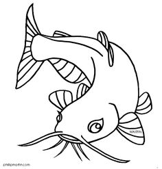 catfish search line drawings for literacy catfish search and Fish Drawings, Animal Drawings, Art Drawings, Catfish Tattoo, Fishing Pictures, Flash Art, Fish Design, Vintage Fishing, Line Drawing