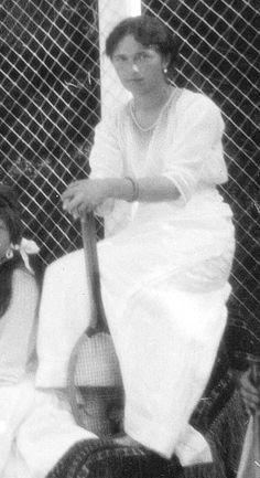 Grand Duchess Olga Nikolaevna (1895 – 1918)  at the  tennis court in Livadia (Crimea). 1914. #Russia #history #Romanov
