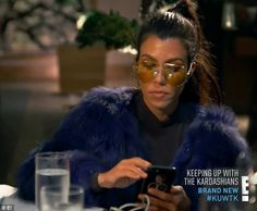 Concern mounting: Kourtney Kardashian fielded worrisome messages about her ex Scott Disick during Sunday's episode of Keeping Up With The Kardashian