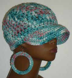 Denise Chunky Crochet Baseball Cap Hat by Razonda by RazondaLee