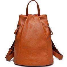women genuine leather backpacks for women vintage school bag for college girl travel bag backpack mochila santoro escolar BD-001