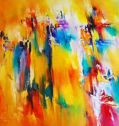 Modernes Kunstbild mit Ölfarben