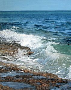 View Marea bicolor by Luis Armando Zesatti on artnet. Browse upcoming and past auction lots by Luis Armando Zesatti. Ocean Scenes, Beach Scenes, Seascape Paintings, Landscape Paintings, Image Nature, Am Meer, Sea Waves, Sea And Ocean, Ocean Art