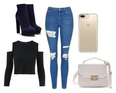 """""""That cute day"""" by emma-387 ❤ liked on Polyvore featuring Topshop, Casadei and Speck"""