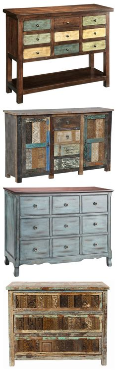 These dressers would make any room better! #home #decor #furniture #distressed #rustic