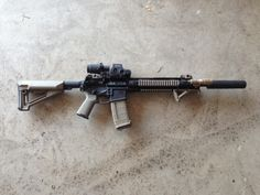 "Custom 14.5"" Piston Upper, Magpul wardrobe and EOTech HHSS II system, with audio control by AAC M4-2000"