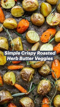 Roasted Veggies Recipe, Roasted Vegetable Recipes, Vegetarian Recipes, Easy Vegetable Recipes, Cooking Recipes, Healthy Recipes, Roasted Vegetables, Chicken Recipes, Easy Vegetable Side Dishes