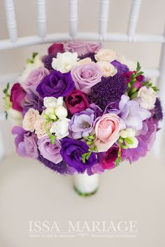 Purple Wedding Bouquets, Bridesmaid Flowers, Flower Bouquet Wedding, Floral Bouquets, Floral Wedding, Flower Decorations, Wedding Decorations, Seashell Bouquet, Floral Arrangements