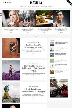Maxilla Magazine WordPress Theme [Download] #blog #magazine #wordpresstheme #wpthemes #bloggers #food #travel #lifestyle Food Tech, Travel Workout, Keeping Healthy, Food Travel, Best Wordpress Themes, Beautiful Moments, People Around The World, Healthy Lifestyle, Blogging