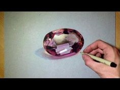 AMETHYST - Coloured Pencil Drawing - YouTube