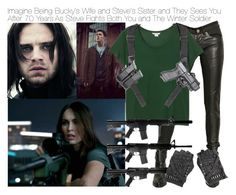 """""""Imagine Being Bucky's Wife and Steve's Sister and They Sees You After 70 Years As Steve Fights Both You and The Winter Soldier"""" by fandomimagineshere ❤ liked on Polyvore featuring Tuesday Night Band Practice and Monki"""