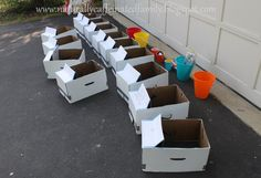 cardboard cars- A great time and party activity!