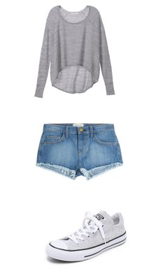 """""""Untitled #419"""" by fluffball962 on Polyvore featuring Converse, Victoria's Secret and Current/Elliott"""