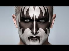 Photoshop Tutorial: KISS! How to Apply Gene Simmons' Makeup to a Photo - YouTube