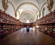 Beautiful Libraries and Bookshops...University of Salamanca Library, Salamanca, Spain, photo via Fatherhood Poetic.