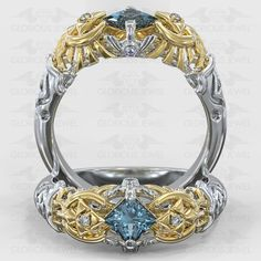 Glorious Custom made Zelda Ocarina Triforce Hyrule Warrior Zora inspired ring with CZ Sapphire stone / or Gold made to order by GLORIOUSJEWELsc on Etsy Unique Rings, Beautiful Rings, Sapphire Stone, Ruby Stone, Emerald Stone, Amethyst Stone, Diamond Stone, Zelda Ring, Zelda Hyrule Warriors