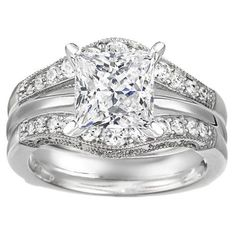 Halo Wedding Ring Guard, this would compliment my ring nicely!