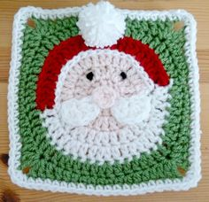 Santa Claus Afghan Square Motif By Heather C Gibbs - Purchased Crochet Pattern - (ravelry) Christmas Crochet Patterns, Granny Square Crochet Pattern, Crochet Squares, Crochet Motif, Crochet Christmas Gifts, Ravelry Crochet, Irish Crochet, Free Crochet, Crochet Afghans