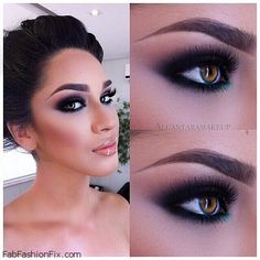 Classic smokey eyes perfect for bridal look