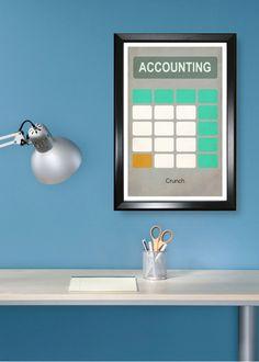 Accounting minimalism poster
