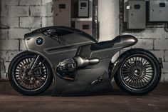 If the Space Jockeys from the Alien franchise rode motorcycles, this is what they'd look like — an HR Giger-inspired BMW from Russia's Zillers Garage. Internally the BMW is unchanged, but … Custom Bmw, Custom Bikes, Tron Bike, Bike Bmw, Steampunk, Nine T, Roadster, Hid Headlights, Cafe Racers