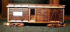 Neat wooden train car