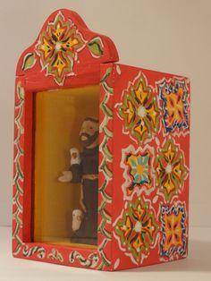 Blog de artxzen :Mônica Franco   *   Arte e Artesanato  *  ArtxZen    *   Salvador - Bahia - Brasil, Detalhe lateral oratório México