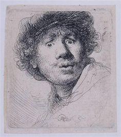 Self-portrait - Rembrandt  - Completion Date: 1630