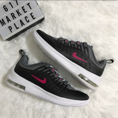 on sale 777f9 d4d35 Nike Shoes   New Nike Air Max Axis Black Rush Pink Running Shoe   Color   Black Gray   Size  Various