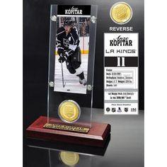 Los Angeles Kings NHL Anze Kopitar Ticket and Bronze Coin Desktop Acrylic