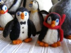 Needle felted penguin by esther