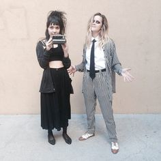 Lydia Deetz and Beetlejuice