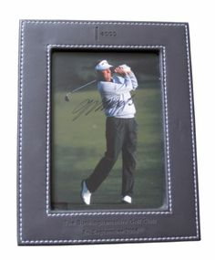 "COLIN MONTGOMERIE signed 8""x6"" Photograph and Brown Faux Leather Frame 